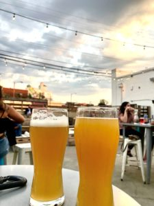 Celebration of National Beer Day on a brewery patio in Richmond, VA