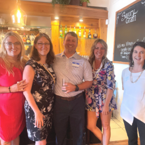 Richmond business owners with Gavin Law attorneys Rina Van Orden and Elizabeth Sewell